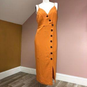 641bfb2f6f4d mint limit Dresses - Mint limit orange button down dress size small